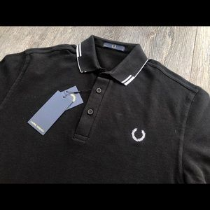 Fred Perry Laurel Wreath Broken Tipped Polo Small